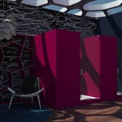 casa punta de mita- regaderas: Vestidores y closets de estilo  por MARGARITA BALLESTEROS  DISEÑO DE INTERIORES