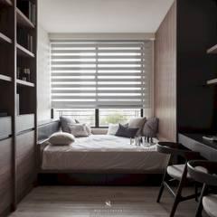 مكتب عمل أو دراسة تنفيذ 理絲室內設計有限公司 Ris Interior Design Co., Ltd. , حداثي