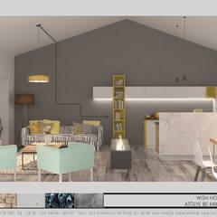 Atölye BE Mimarlık – Kaş Dilek Evi: minimal tarz tarz Oturma Odası