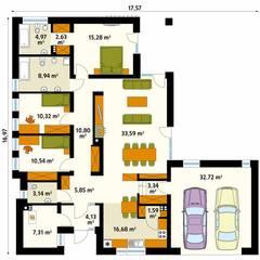 Projekt domu Feniks: styl , w kategorii Ściany zaprojektowany przez Biuro Projektów MTM Styl - domywstylu.pl,
