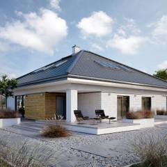 Wizualizacja projektu domu Ariel 7: styl , w kategorii Taras zaprojektowany przez Biuro Projektów MTM Styl - domywstylu.pl