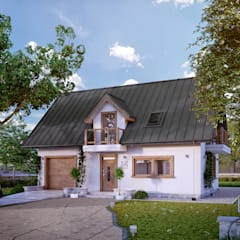 Projekt domu Bielik: styl , w kategorii Domy zaprojektowany przez Biuro Projektów MTM Styl - domywstylu.pl