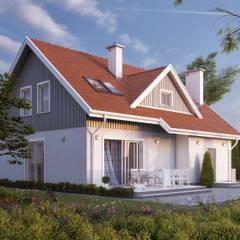 Wizualizacja projektu domu Dudek 2: styl klasyczne, w kategorii Domy zaprojektowany przez Biuro Projektów MTM Styl - domywstylu.pl