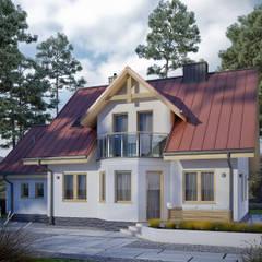Wizualizacja projektu domu Pliszka: styl klasyczne, w kategorii Domy zaprojektowany przez Biuro Projektów MTM Styl - domywstylu.pl