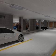 El mirador santuariano: Garajes de estilo  por Project arquitectura s.a.s