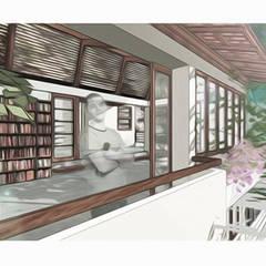 Casa com teto jardím: Janelas   por NATALIA BARTOLOMEO ARQUITETURA   DESIGN STUDIO
