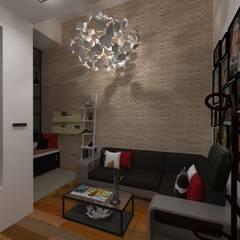 Vivienda Unifamiliar Milagro: Salas / recibidores de estilo  por N.A. ARQUITECTURA, Moderno