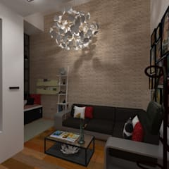 Vivienda Unifamiliar Milagro Salas de estilo moderno de N.A. ARQUITECTURA Moderno