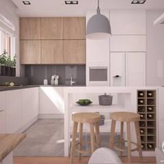 Apartamenty Marymont: styl , w kategorii Kuchnia zaprojektowany przez Progetti Architektura