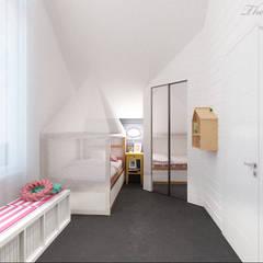 Дизайн интерьера коттеджа в пос.Нагорное: Детские комнаты в . Автор – Best Home, Скандинавский