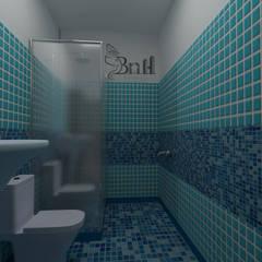 Residential Duplex Villa:  Bathroom by BNH DESIGNERS