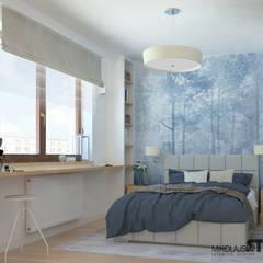 MIESZKANIE PRZY GRZEGÓRZECKIEJ: styl , w kategorii Sypialnia zaprojektowany przez MIKOŁAJSKAstudio