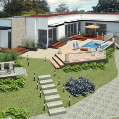 VIVIENDA SPA: Casas de estilo mediterráneo por G2 ESTUDIO