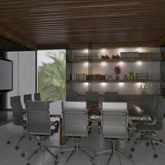 Oficinas CS: Oficinas de estilo moderno por Taller Interno