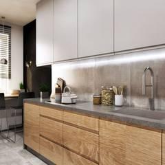 Projekt mieszkania w Krakowie: styl , w kategorii Kuchnia zaprojektowany przez MONOstudio