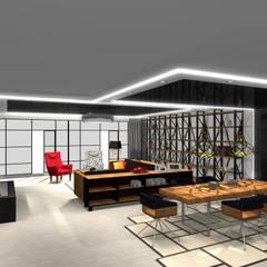Salon z jadalnią: styl , w kategorii Jadalnia zaprojektowany przez CREATIVE DESIQN