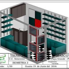 TIENDA MODERNA : Oficinas de estilo  por ERGOARQUITECTURAS FL C.A.