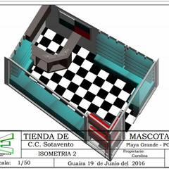 EMPRESA DE DISEÑO ARQUITECTÓNICO Y ESCENOGRAFICO : Oficinas de estilo  por ERGOARQUITECTURAS FL C.A.