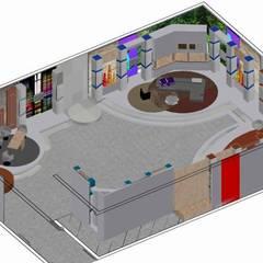 ESCENOGRAFIAS: Salas de entretenimiento de estilo  por ERGOARQUITECTURAS FL C.A., Moderno Derivados de madera Transparente