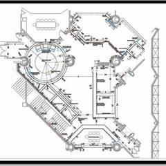 Incorporación en plano de pasillo de circulacion: Oficinas de estilo  por ERGOARQUITECTURAS FL C.A.