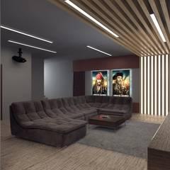 Дом Летчик Испытатель: Медиа комнаты в . Автор – Anastasia Yakovleva design studio