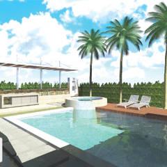 PISCINA Y EXTERIORES CASA 9 / Ciudad Jardin, Cali - Colombia: Piscinas de estilo minimalista por ION arquitectura SAS