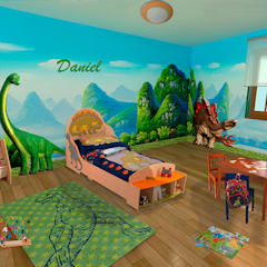 tropische Kinderkamer door lo quiero en mi casa