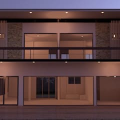 บ้าน2ชั้น :  บ้านและที่อยู่อาศัย โดย mayartstyle, โมเดิร์น คอนกรีต