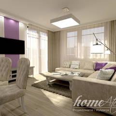 Lawendowa prowansja: styl , w kategorii Salon zaprojektowany przez Home Atelier