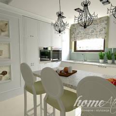 Lawendowa prowansja: styl , w kategorii Jadalnia zaprojektowany przez Home Atelier