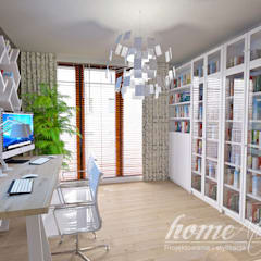 mediterranean Study/office by Home Atelier