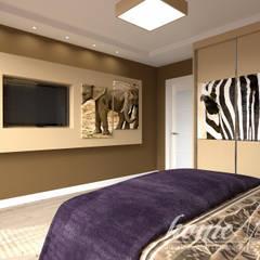 Lawendowa prowansja: styl , w kategorii Sypialnia zaprojektowany przez Home Atelier