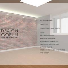 은하마을 49평 리모델링_ Design by Goeun: 디자인고은의  침실,인더스트리얼 벽돌