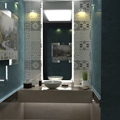 بعض غرف فيلا بالتجمع:  حمام تنفيذ Taghred elmasry, حداثي