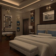 بعض غرف فيلا بالتجمع:  غرفة نوم تنفيذ Taghred elmasry