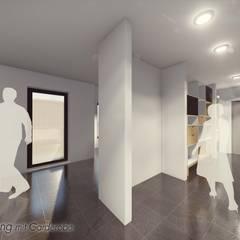 Neubau von 2 Mehrfamilienhäusern in Detmold:  Flur & Diele von Bas Architekten