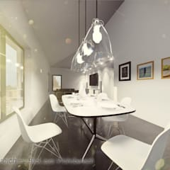 Neubau von 2 Mehrfamilienhäusern in Detmold: ausgefallene Esszimmer von Bas Architekten
