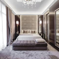 Interior design of a residence in Nice on Côte d'Azur. Eclectic style bedroom by NG-STUDIO Interior Design Eclectic