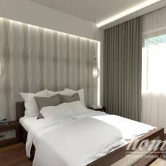 Śródziemnomorska subtelność: styl , w kategorii Sypialnia zaprojektowany przez Home Atelier