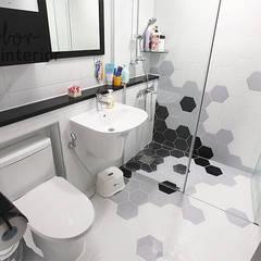 인천 송도신도시 더샵 그린스퀘어 38평 아늑한 아파트실내인테리어: 디자인 아버의  욕실,모던