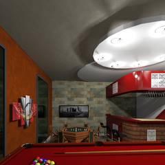 Salon de Juegos & Bar : Cavas de estilo  por HC Arquitecto