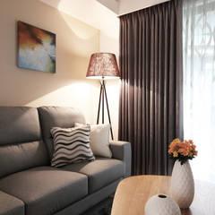 Salon moderne par 築一國際室內裝修有限公司 Moderne