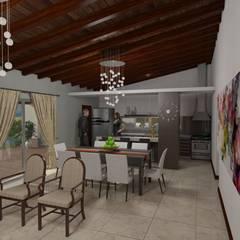 Vivienda MABE: Livings de estilo  por Gastón Blanco Arquitecto,Rural
