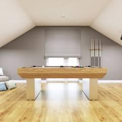 Projekt poddasza: styl , w kategorii Pokój multimedialny zaprojektowany przez MONOstudio