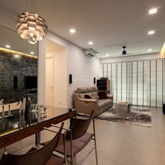 Minton Condo Interior Design Singapore:  Dining room by Posh Home,Modern