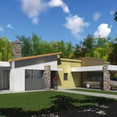 Proyecto Claudia Quadrin: Garajes de estilo  por Estudio de arquitectura MSM  (Mar del Plata+Balcarce+Tandil)