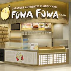 Fuwa Fuwa Tunjungan Plaza, Surabaya: Kantor & toko oleh Juxta Interior, Minimalis