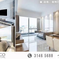 Park YOHO Venezia:  Living room by Art Deco Design Ltd.,