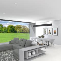 Projeto Ametista: Salas de estar  por Magnific Home Lda,Moderno