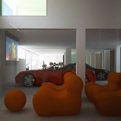 Siesta Twin House: Garajes de estilo  de Zucchero Architects